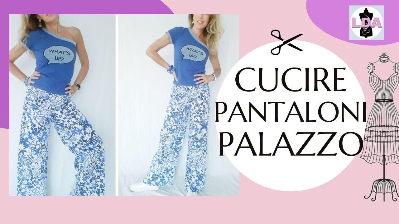 online store 47e6b 3e0c8 Palazzo Pants in 10 min. senza cartamodello DIY🧡 EN SUB