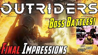 Outriders Boss Battles & AJ's Final Impressions!