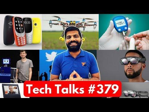 Tech Talks #379 - Nokia 4G Phone, Ola Lite, Magic Leap MR, Drone India, Drumming Robot