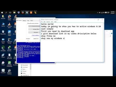 How to Active Windows & office  XP, Windows Vista, 7, Windows 8, 8.1, 10