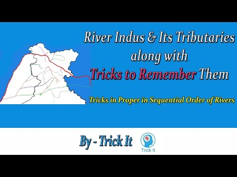 Indus and It's Tributaries along with Trick to Remember
