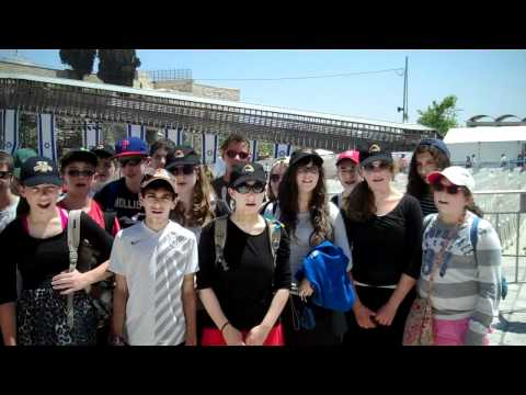 Agnon School 8 Grade -  In the Kotel 2012