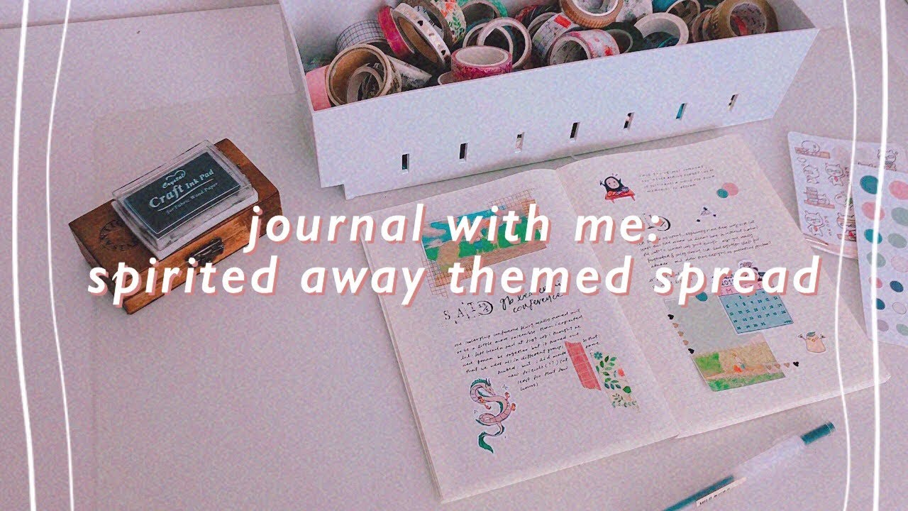 Plan With Me Spirited Away Themed Journal Spread Youtube