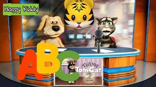 ABC Song, Learn English Alphabets With Talking Tom and Ben sing for children