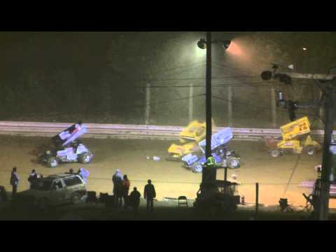 Port Royal Speedway 410 Sprint Car Highlights 9-11-10