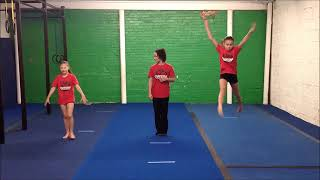 Gymnastics Level 1 (Beginner) // Virтual Gymnastics Class // Online gym class at home