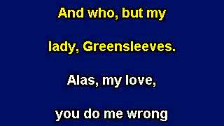 Greensleeves, Karaoke video with lyrics, Instrumental version