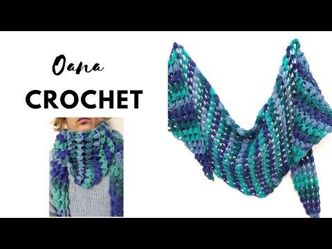 Crochet 3d Baktus Scarf By Oana Youtube
