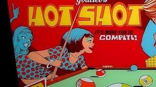 1973 Gottlieb Hot Shot pinball machine in action