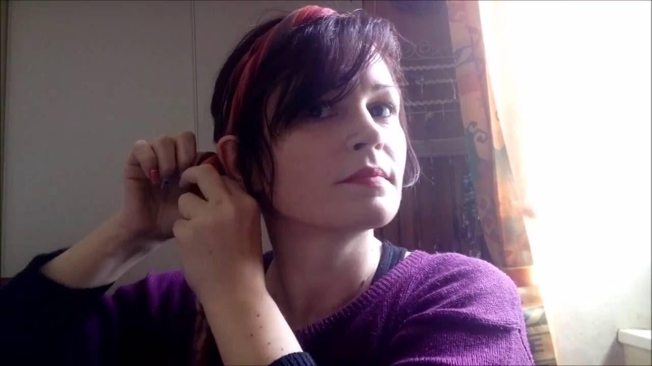 coiffures avec des foulards sur cheveux courts