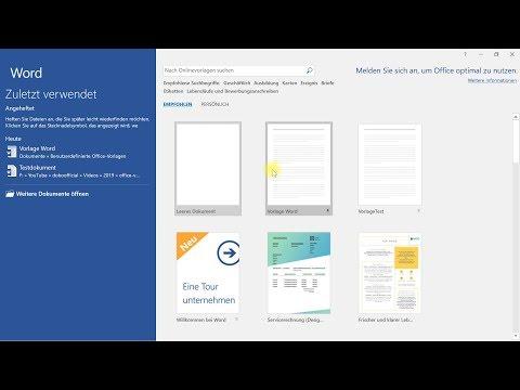 Individuelle Vorlagen In Word, Excel Und PowerPoint – Office-Tutorial
