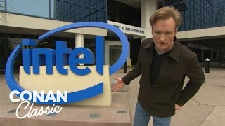 Conan Visits Intel's Headquarters  'Late Night With Conan O'Brien'