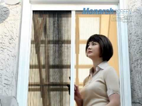 sc 1 st  YouTube & DIY pleated retractable fly screen door - National Screens - YouTube