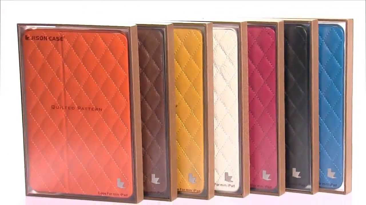 jisonCASE Quilted Leather Smart Case for iPad Mini - YouTube : quilted ipad case - Adamdwight.com