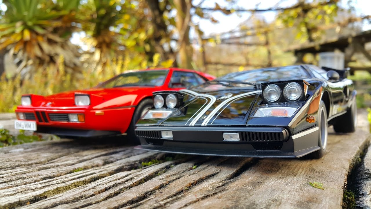 Bmw M1 Vs Lamborghini Countach Lp500r 1 18 Youtube