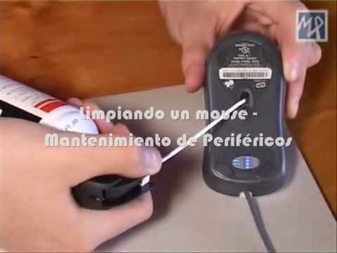 Limpiando un mouse óptico - scroll