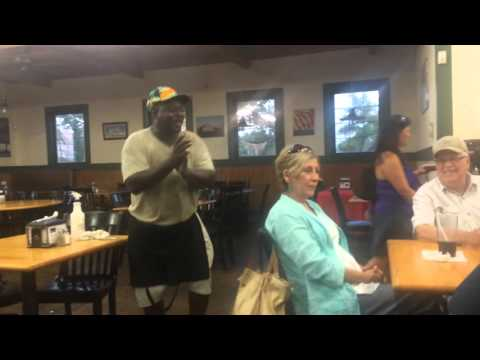 Isaac Collington - The famous singing busboy from The Simply - restaurant busboy