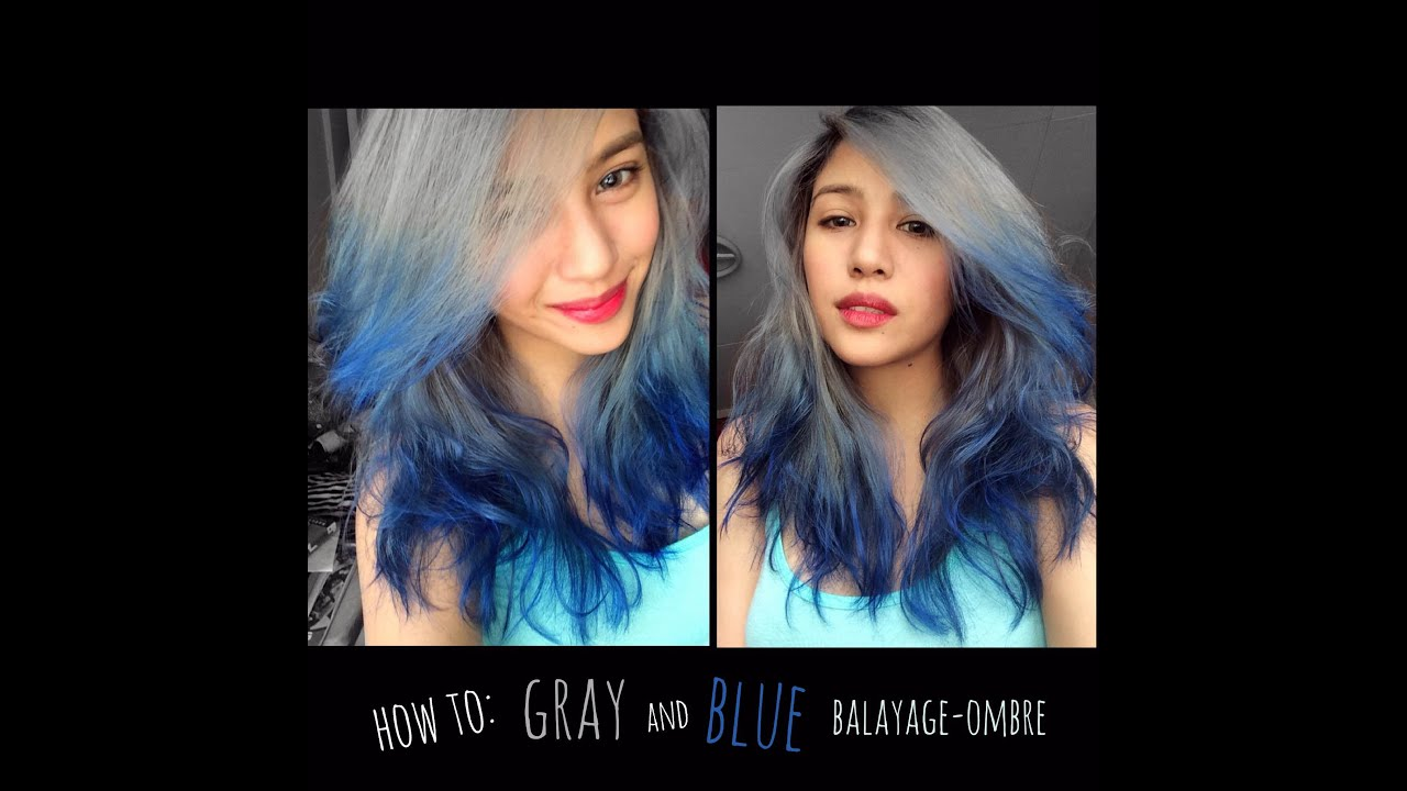 How To Gray To Blue Balayage Ombre