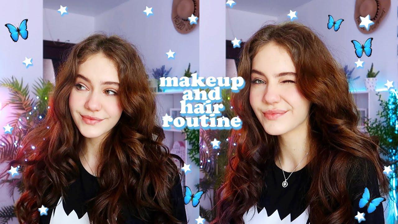 Мой повседневный макияж и укладка 2020 ||summer makeup and hair routine