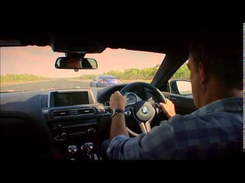 BMW M6 Grand Coupe vs Nissan GTR vs Bentley GT TopGear Drag Race