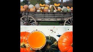 Тыквенный сок в домашних условиях + яблоко или апельсин. Витамины круглый год. Огромная польза тыквы