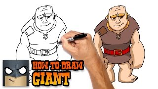 How to Draw Giant   Clash of Clans