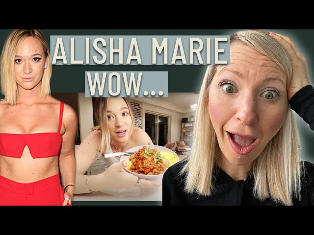 Dietitian Reacts to Alisha Marie What I Eat in a Day to Lose Weight (This Really Surprised Me)
