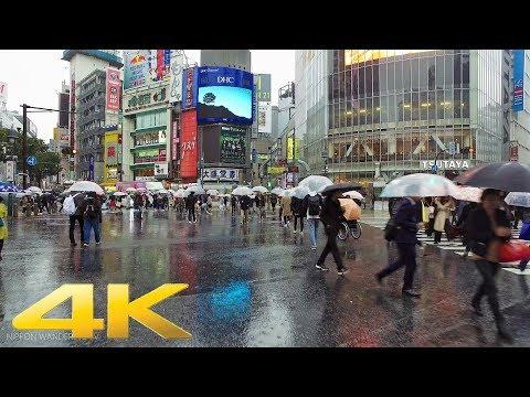 Walking around Shibuya, Tokyo in the rain - Long Take【東京・渋谷】 4K