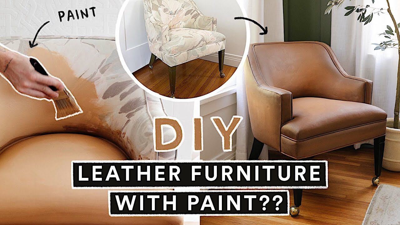 Painting Thrifted Furniture To Look Like Leather?! *It Actually Works!*