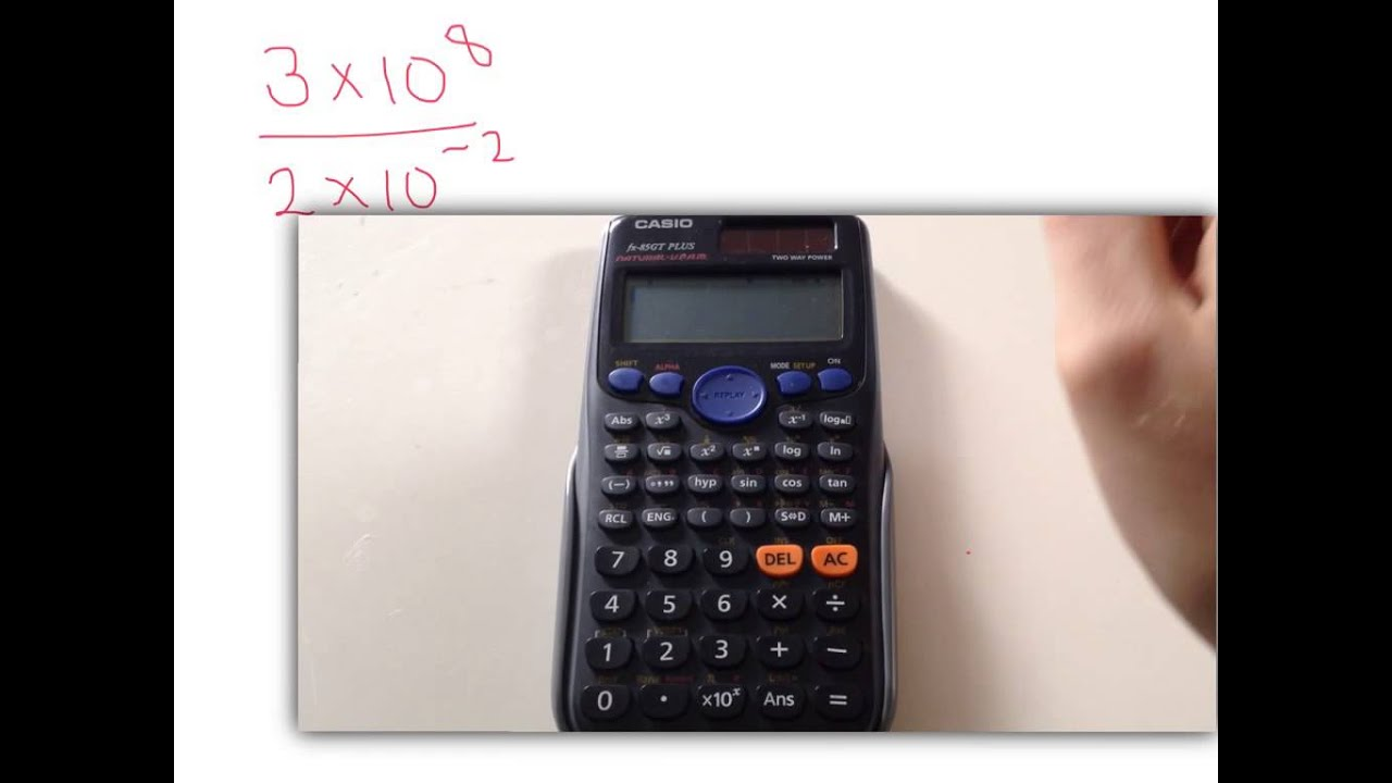 Using a calculator for standard form qs youtube using a calculator for standard form qs falaconquin