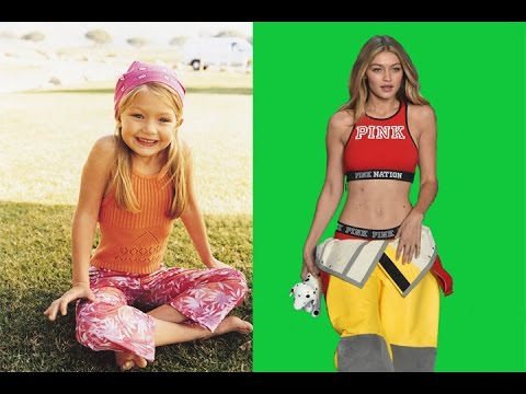 Gigi Hadid - from 1 to 22 years old