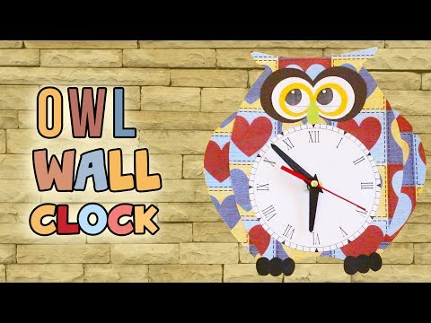 3 Minute Crafts - How to make diy owl wall clock best out of waste / room decor ideas for kids