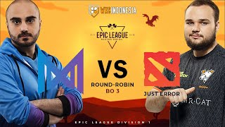 [Dota 2 Live] Nigma vs Just Error | EPIC League Division 1 | Groupstage BO3 | Cast by Yudijustincase