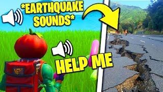 I Pretended an EARTHQUAKE Happened While Playing Fortnite
