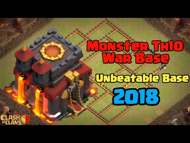 Best TH10 War Base 2018 | TH10 Monster Base | Clash of clans INDIA