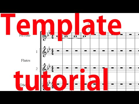 How to make a Musescore Concert Band Template Look Extremely Good