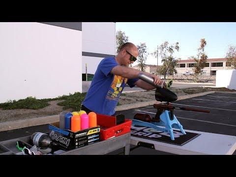 SP Shocker CVO Mechanical Paintball Gun - Efficiency Test
