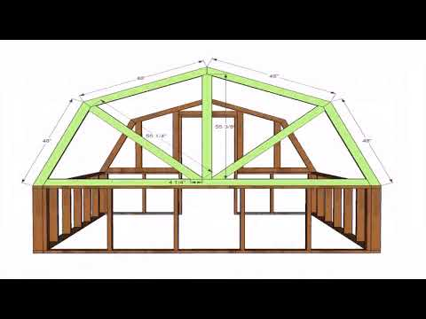 Free Gambrel Roof House Plans