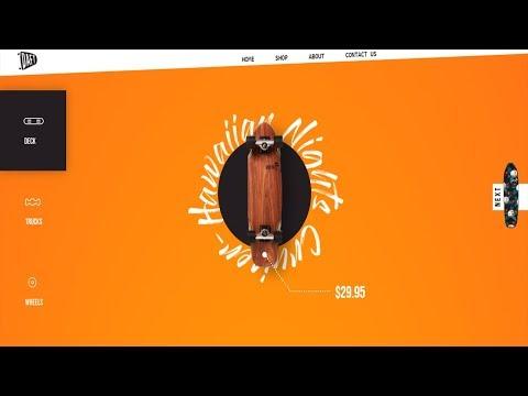 Animated Navigation Bar | Scrollbar Animation | CSS - JQUERY Tutorial thumbnail