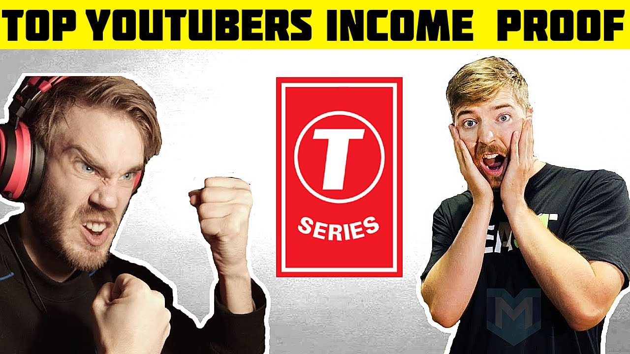 STARTING A YOUTUBE CHANNEL? | TOP YOUTUBER'S INCOME PROOF | T-Series | PewDiePie | MrBeast
