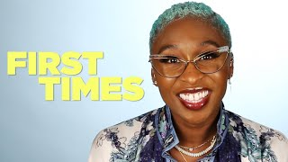 Cynthia Erivo Tells Us About Her First Times Video