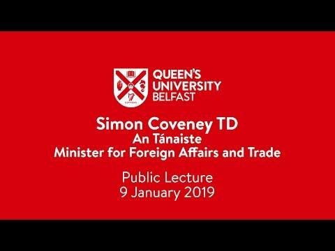 Simon Coveney TD, Public Lecture