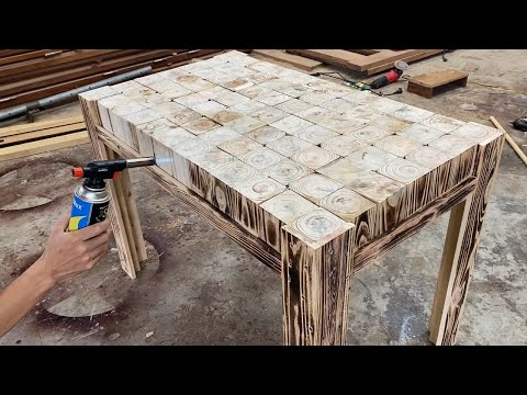 Amazing Design Ideas Woodworking Easy From Pallet – Build A Outdoor Dining Table From Blocks Pallets