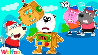 Wolfoo Plays Robot Toy Assembly Challenge | Wolfoo Family Kids Cartoon