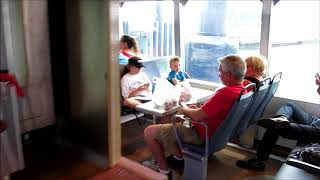 A quick look around the passenger cabin of an NYC Ferry boat