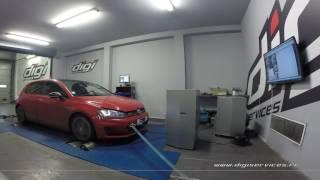 VW Golf 7 GTI performance 230cv DSG Reprogrammation Moteur @ 303cv Digiservices Paris 77 Dyno