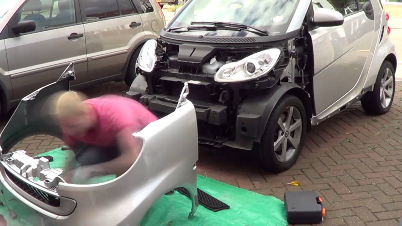 car headlight bulb diagram single phase two speed motor wiring how to change the front panels of a smart fortwo 451 - youtube