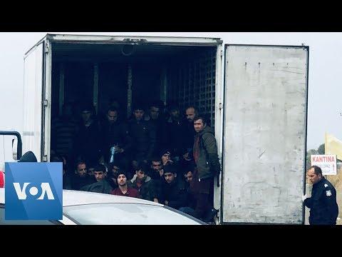 Police Find 41 Migrants Alive in Refrigerator Truck in Greece
