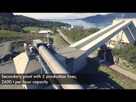 Aggregates production at Norsk Stein Jelsa