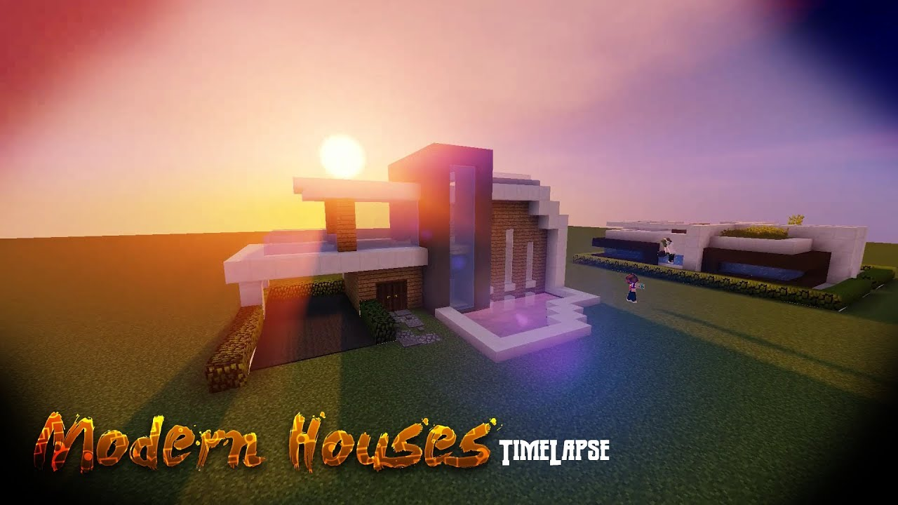 Modern House Minecraft Timelapse MCwolfGaming YouTube